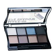 8 Paleta de Sombras Brilho Paleta da sombra Creme Normal Maquiagem para o Dia A Dia