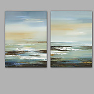 Hand-Painted Abstract /100% Hang-Painted Oil PaintingModern / Classic Two Panels Canvas Oil Painting For Home Decoration