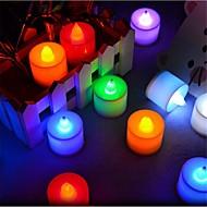 3W LED-kaarslampen T 1 Dip LED 300 lm Rood / Blauw / Geel / Groen / Roze Decoratief AC 85-265 V 24 stuks