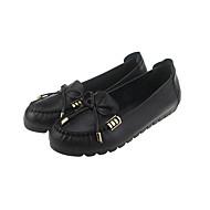נשים-נעליים ללא שרוכים-עור-בלרינה-שחור / בורגונדי / חאקי-שטח / משרד ועבודה / קז'ואל-עקב שטוח