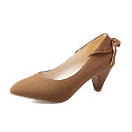 Feminino-Saltos-Sapatos com Bolsa Combinando-Salto Agulha-Preto / Azul / Marrom / Vermelho / Bege-Courino-Escritório & Trabalho / Casual