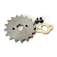 420-17mm-17t tand front drevet in för Lifan 125cc motor skoter dirt bike
