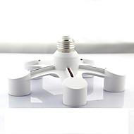 zweihnder 5 em 1 e27 e27 levou a tomada lâmpadas titular adaptador splitter lâmpada para o estúdio de fotografia