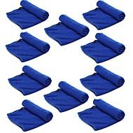 ziqiao 10 unidades / lote de microfibra limpeza do carro de lavagem de pano de ferramentas de produtos de toalha de poeira (30 * 70
