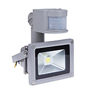 10W Motion Sensor LED Flood Light with PIR 800lm Super Bright Outdoor Security Light 85V-265V Waterproof Flood Fixture 3200K Warm White Floodlight