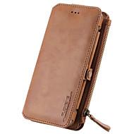 のために ウォレット / カードホルダー / スタンド付き ケース フルボディー ケース ソリッドカラー ハード 本革 のために Samsung Note 5 / Note 4 / Note 3