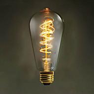 :: e27 fio ST64 torno 60w 220v-240v edison retro lâmpadas decorativas