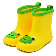 Boy's Boots Summer Other Rain Boots Synthetic Outdoor Flat Heel Animal Print Yellow Green Other