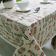 Square Patterned / Holiday Table Cloth , Cotton Blend Material Hotel Dining Table / Table Decoration
