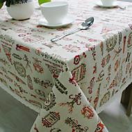 Obdélníkový Se vzorem / Prázdninový Ubrusy , Směs bavlny Materiál Hotel Jídelní stůl / Tabulka Dceoration