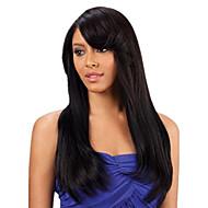 natual fekete # 1b láthatatlan mély csipke l része emberi haj egyenes 20inch emberi haj csipke első paróka