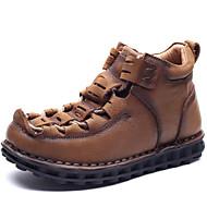 גברים-מגפיים-עור נאפה Leather-נוחות / גלדיאטור-חום-שטח / קז'ואל / מסיבה וערב