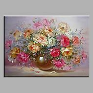 Pintados à mão Vida Imóvel Pinturas a óleo,Modern / Clássico / Tradicional / Realismo / Mediterrêneo / Pastoril / Estilo Europeu 1 Painel