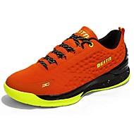 Herre Sportssko Komfort Tyll Atletisk Avslappet Løp Komfort Svart Oransje Blå Flat