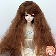 38cm hosszú göndör világosbarna színű haj 1/3 1/4 BJD sd dz baba paróka kiegészítők nem felnőtt ember