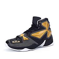 Atletické boty-Personalizované materiály mikrovlákno-Pohodlné-Pánské-Černá Červená Bílá Black and Gold Černá a červená-Outdoor Běžné