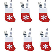 6pcs Weihnachtssocken Besteckschublade kleinen Socken