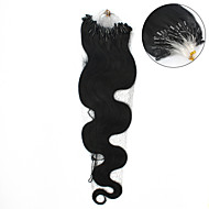 "1pc / 20inch הרבה / 50 ס""מ multicolors גלי 100s הארכת שיער אדם grade5a הארכת שיער טבעת מיקרו / 0.5g חבילה / s"