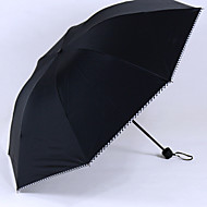 Sort Sammenfoldet paraply Solparaply Plastic Klapvogn
