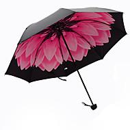 Rød Sammenfoldet paraply Solparaply Plastic Klapvogn