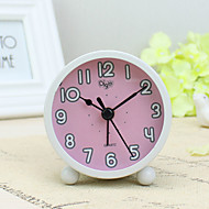 ξυπνητήρι με matel περίπτωση σε ροζ χρώμα σιωπηλή movment φως τη νύχτα μίνι μέγεθος