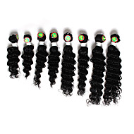 8-14inch 8 pcs /lot Brazilian deep wave Virgin Hair Brazilian Virgin Hair deep wave Hair Weave Bundles cheap human hair