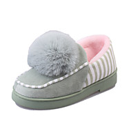 Women's Slippers & Flip-Flops Spring Fall Winter Comfort Leather Casual Flat Heel Pom-pom Black Green Pink Almond Others
