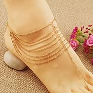Dames Enkelring /Armbanden Legering Modieus Europees Meerlaags Sieraden Voor Bruiloft Feest Dagelijks Causaal