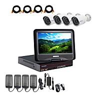 המצלמה AHD strongshine® עם DVR AHD 960p / אינפרא אדום / עמיד למים 4ch עם ערכות משולבות LCD 10.1 אינץ '