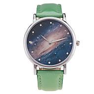 Men's Women's Sport Watch Dress Watch Fashion Watch Wrist watch Quartz Punk Colorful Large Dial PU BandVintage Sparkle Candy color