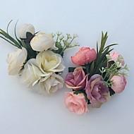פרחי חתונה שושנים פרחי דש חתונה / חתונה/ אירוע סאטן