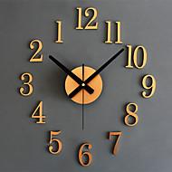 מודרני / עכשווי / רטרו חופשה / מעורר השראה / משפחה / סרט מצויר שעון קיר,עגול / מצחיק אקרילי / זכוכית / מתכת 40cm(16in) בבית/ בטבע שָׁעוֹן