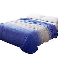 Felpudo Azul,Estampado Curva 100% Poliéster cobertores