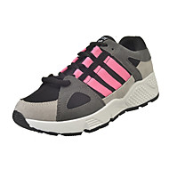 Women's Athletic Shoes Fall Winter Comfort PU Casual Flat Heel Buckle Pink Gray Others