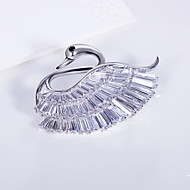 Luxury Weddings Cubic Zirconia Jewerly Platinum Plated Accessories Brooches Corsage Scarf Clips Pins Broche Large Designer Broach
