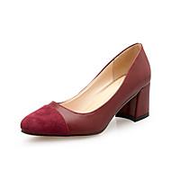 Homme-Bureau & Travail Habillé Décontracté-Noir Jaune Rouge Gris-Gros Talon-Autre Confort-Chaussures à Talons-Polyuréthane