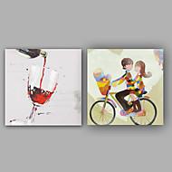 Håndmalte Abstrakt / Mennesker olje malerier,Klassisk / Moderne Et Panel Lerret Hang malte oljemaleri For Hjem