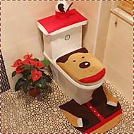 housse de siège de flanelle de qualité&mettre une serviette réservoir d'eau de pad tapis de pied couverture salle de bain se père