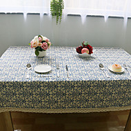 Square Floral Table Cloth , Linen Material Hotel Dining Table / Wedding Banquet Dinner / Table Decoration / Dinner Decor / Home Decoration