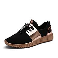Spor Ayakkabısı-Rahat-Rahat-Tül-Düz Topuk-Altın Siyah Gümüş-Erkek
