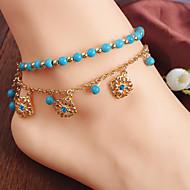 여성 발찌/팔찌 모조 다이아몬드 합금 보헤미아 스타일 비즈 유럽의 보석류 제품 결혼식 파티