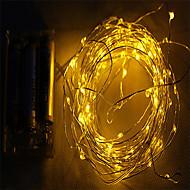 2m 10LED 3aa batteriebetriebene wasserdichte Dekoration führte Kupferdraht-Leuchten String für Weihnachtsfest-Hochzeitsfest