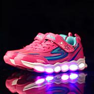女の子用-アスレチック-PUレザー-フラットヒール-靴を点灯 コンフォートシューズ-スニーカー-グリーン ピンク ネービーブルー