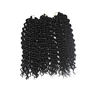 Twist profonde Pré-boucle Tresses crochet Extensions de cheveux 16Inch Kanekalon 1 Pack for a Full Head Brin 203g gramme Braids Hair