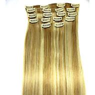 8kpl / set 24 tuumaa # 18/613 Remy hiusten pidennykset hiusten pidennys tyyppi ihmisen hiusten pidennykset