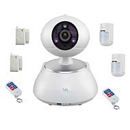 snov® camera PTZ IR IP fără fir cu detector de 6buc de alarmă fără fir, de detectare a mișcării, app sv-vpc2k4