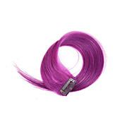 2 peças / set 4 clipes grampo em extensões do cabelo 14inch roxo 18inch 100% cabelo humano para as mulheres