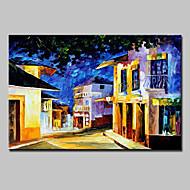 Pintados à mão Paisagem Paisagens Abstratas Pinturas a óleo,Moderno 1 Painel Tela Pintura a Óleo For Decoração para casa