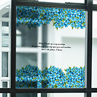 Trees/Leaves Contemporary Window Sticker,PVC/Vinyl Material Window Decoration