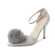 Sandály-Třpytky-Pohodlné D´Orsay-Dámské-Černá Červená Stříbrná-Svatba Šaty Party-Vysoký